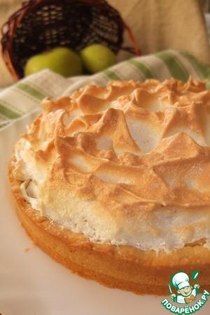 Рецепт Яблочный пирог с ванильной меренгой