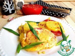 Картошка с помидором и сыром в СВЧ