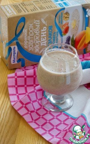 Рецепт Молочный грушево-банановый смузи