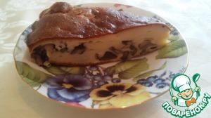 Рецепт Заливной пирог с лесными грибами