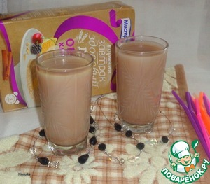 Рецепт Какао-коктейль с овсяными хлопьями