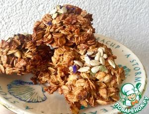 Рецепт Овсяное печенье с курагой и яблоками