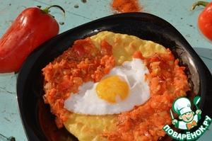 """Рецепт Завтрак по-мексикански """"Уэвос ранчерос"""""""
