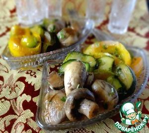 Рецепт: Овощи, маринованные в лимонном соке