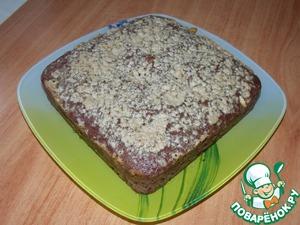 Рецепт Шоколадный манник с халвой