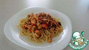 Рецепт Паста с куриной грудкой, помидорами и базиликом