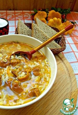 Рецепт Овсяный суп с грибами