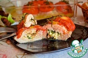 Рецепт Куриная грудка, фаршированная козьим сыром