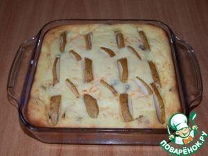 Рецепт Запеканка творожная с тыквой и грушей