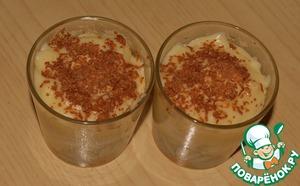 Рецепт Пудинг с бананом и белковым кремом