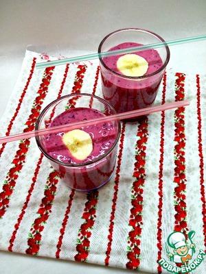 Рецепт Смузи ягодно-банановый