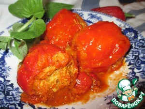 Рецепт Перец, фаршированный картофелем и курицей