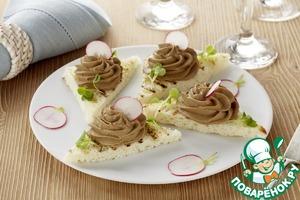 Рецепт Паштет из печени индейки с хрустящими крутонами