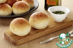 Рецепт Домашние булочки с чесночным соусом