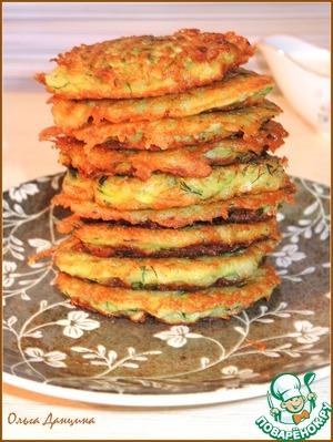 Рецепт Драники овощные с рисовыми хлопьями