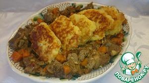 Рецепт Говядина с картофельными галушками