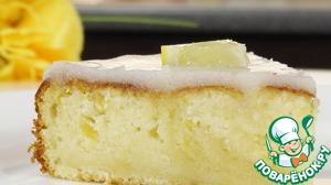 Рецепт Лимонный пирог с глазурью