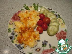 Рецепт Куриное филе в сметанно-чесночном соусе