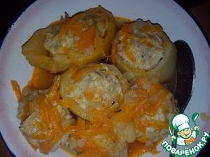 Фаршированный картофель пошаговый рецепт с фотографиями
