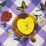 Творожно-сметанное лимонное суфле с ягодами в микро