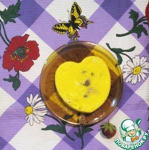 Рецепт Творожно-сметанное лимонное суфле с ягодами в микро
