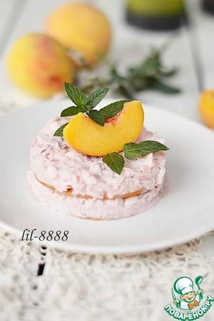 Рецепт Пирожные из персиков с рисовым кремом