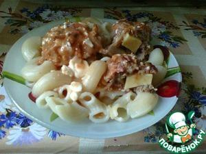 Рецепт Мясные котлеты с капустой, кабачком и сыром