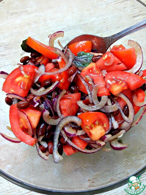 Салат с красной фасолью рецепт с и колбасой рецепт