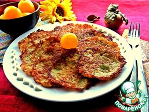 Рецепт Картофельные драники с кабачком и яблоком