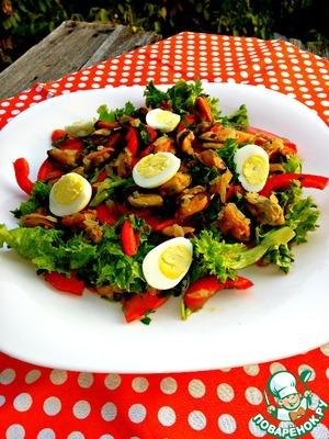 Рецепт Средиземноморский салат с мидиями