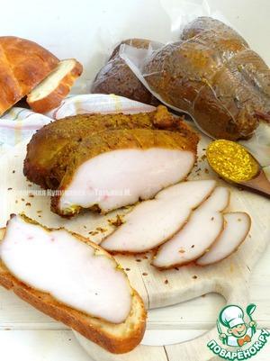Рецепт Куриные грудки с карри и кунжутом копченые