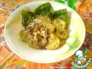 Рецепт Теплый салат из баклажанов и кабачков с карри