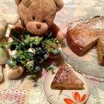 Пирог с халвой и творогом