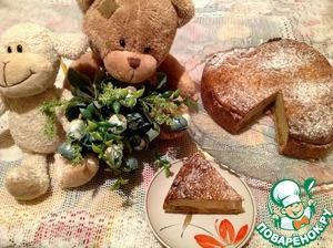 Рецепт Пирог с халвой и творогом