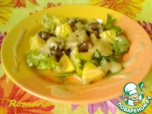 Рецепт Салат с куриной печенью и манго
