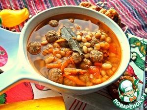 Рецепт Фасолевый суп с фрикадельками