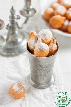 Рецепт Французские заварные пончики Пе-де-нонн (Рet-de-nonne)
