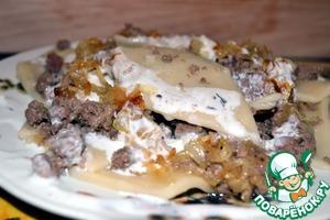 Готовим Откидной хингял с мясом простой рецепт с фото пошагово