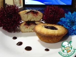 Рецепт Творожные кексы со сливой