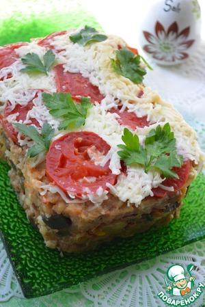 Рецепт Мясная запеканка с рисовыми хлопьями и овощами