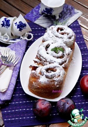 Рецепт Бриошь-розетка со сливой
