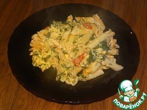 Рецепт Запеканка с макаронами на сковороде