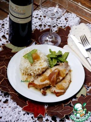 Рецепт Свинина по-нормандски