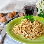 Спагетти в ореховом соусе
