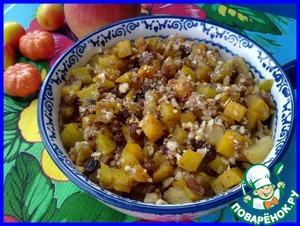 Рецепт Тыква с яблоками и медом в микроволновке