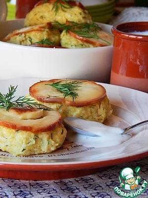 Рецепт Пшенно-сырные биточки с зеленью