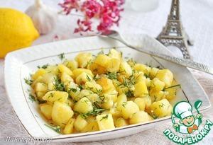 Рецепт Картофель, жаренный с лимоном и чесноком