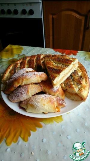 Рецепт Пирог с яблоками из творожного теста