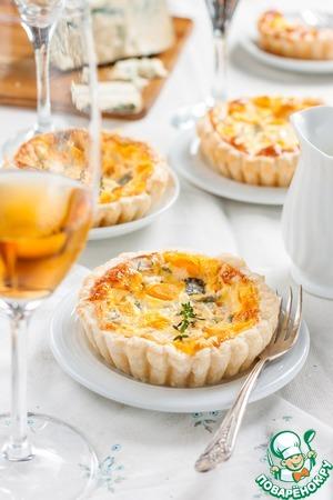 Рецепт Киш с тыквой и голубым сыром