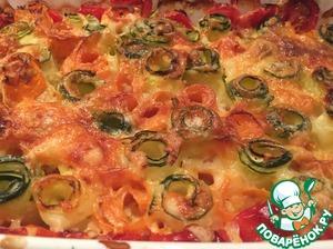 Рецепт Запечённые овощи с сыром и чесноком